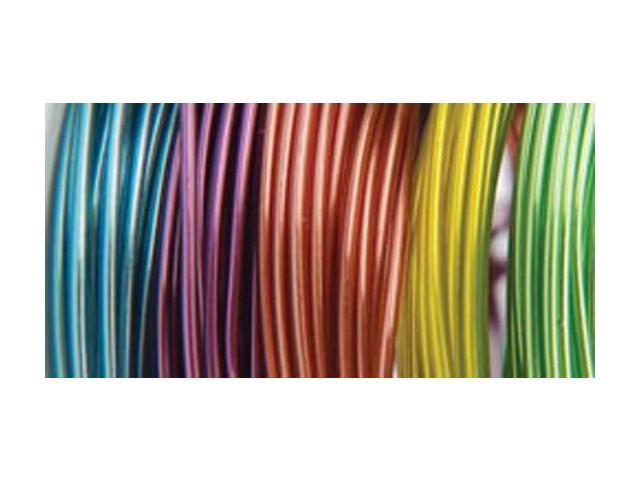 Plastic Coated Fun Wire Value Pack 9' Coils-Translucent - 22 Gauge 5/Pkg