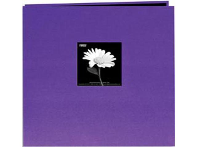"Book Cloth Cover Postbound Album With Window 8""X8""-Grape Purple"