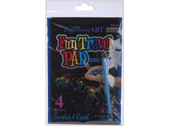 Rainbow Engraving Art Fun Travel Pads-Safari Animals
