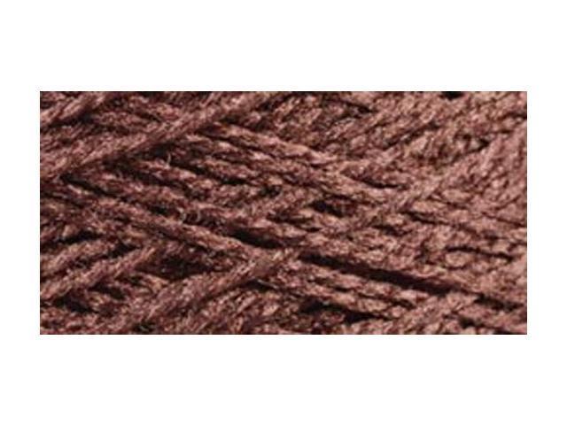 Needloft Craft Yarn 20 Yard Card-Brown
