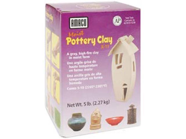Moist Pottery Clay 5lb-Gray