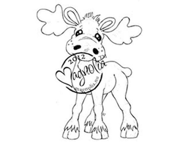 Turning Leaves Cling Stamp-Walter The Moose