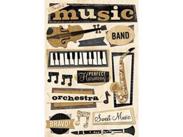 Music Cardstock Stickers 5.5