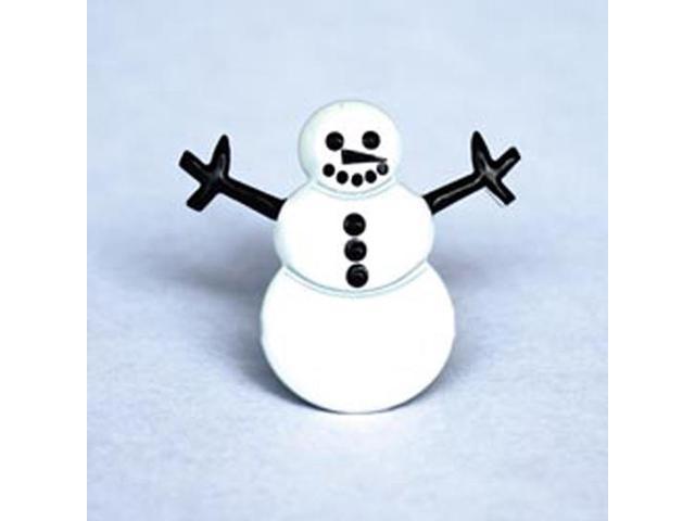 Eyelet Outlet Shape Brads-Snowman
