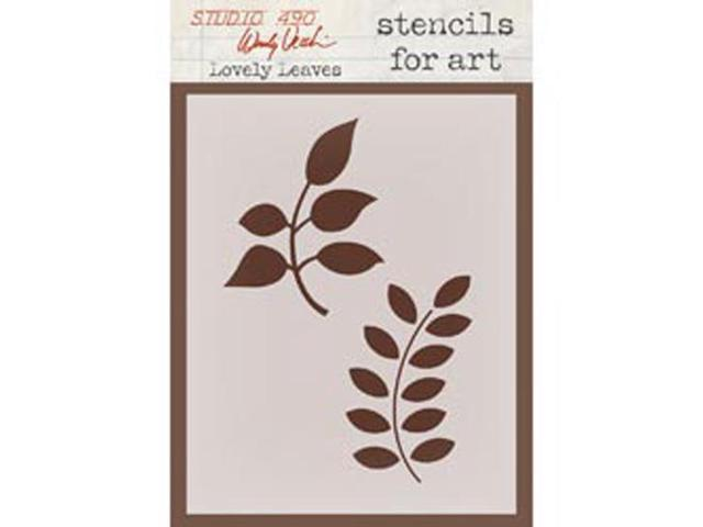 Wendy Vecchi Studio Stencil Collection-Lovely Leaves