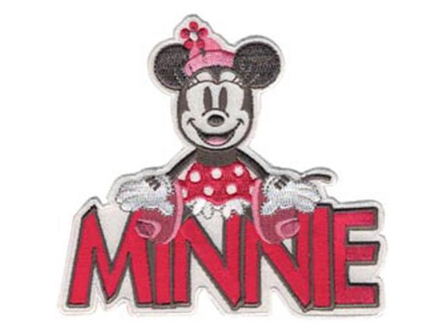Disney Mickey Mouse Minnie With Name Iron-On Applique-