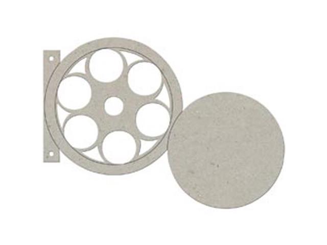 Die-Cut Grey Chipboard Album 7.5