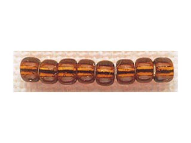 Mill Hill Glass Beads Size 6/0 4mm 5.2 Grams/Pkg-Brilliant Bronze
