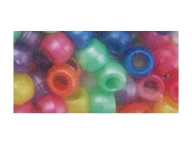 Pony Beads 6mmX9mm 1lb-Pearlized Multicolor