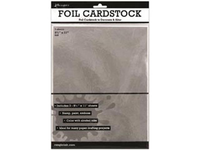 Ranger Surfaces Silver Foil Cardstock (3 Pack) 8.5