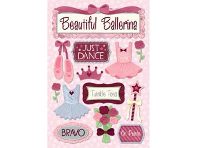 Ballet Cardstock Stickers 5.5