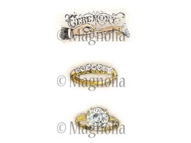 Special Moments Cling Stamp-Ceremony Ring Kit