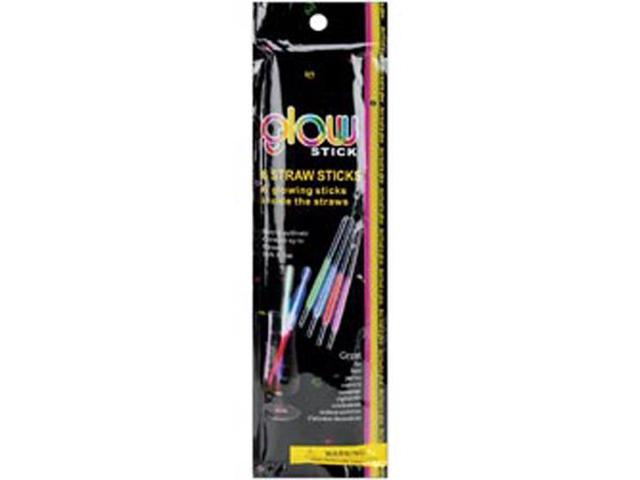 Glow Stick Straws 6/Pkg-Assorted Neon Colors