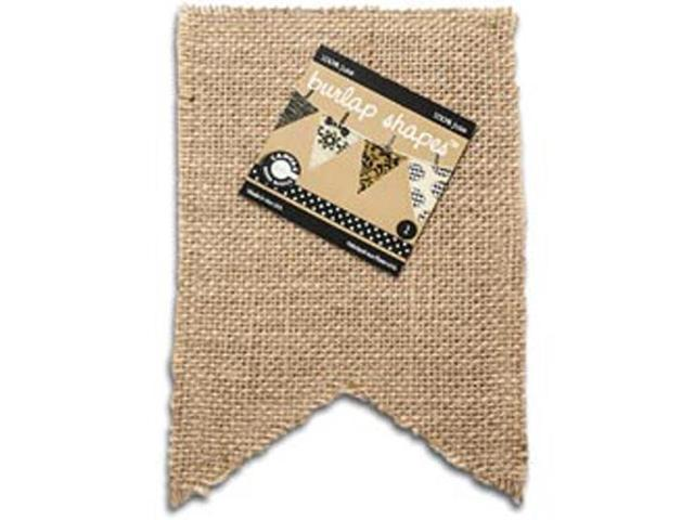 Paintable Burlap Shapes-Flag