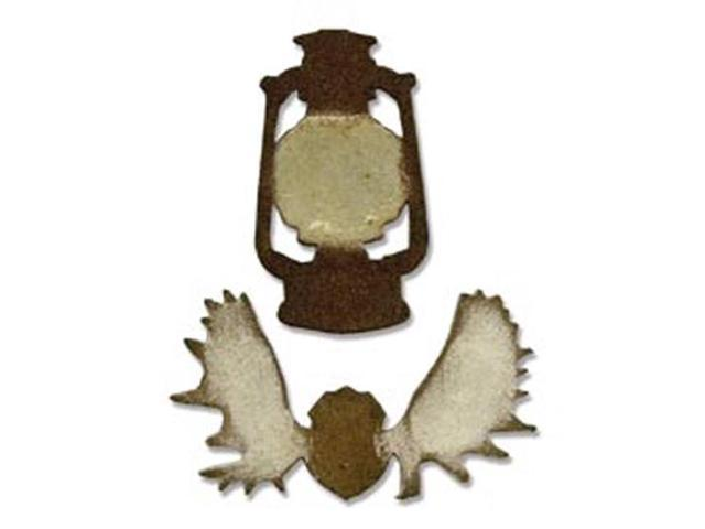 Sizzix Movers & Shapers Magnetic Dies By Tim Holtz 2/Pkg-Mini Lantern & Antlers