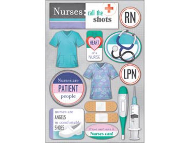 Medical Cardstock Stickers 5.5