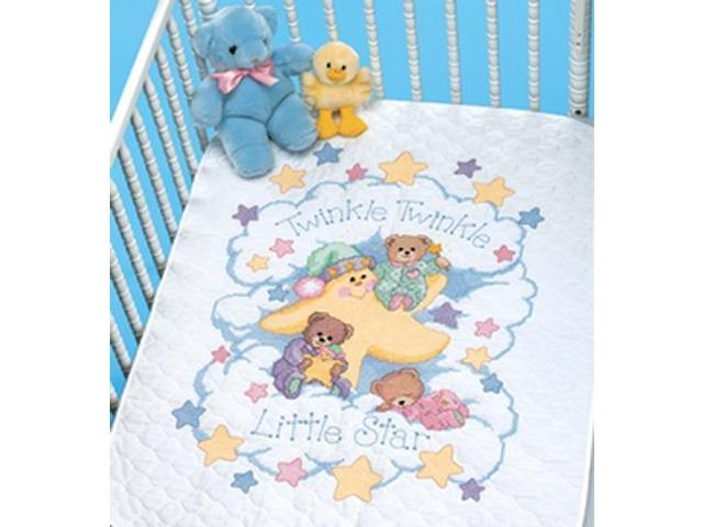 Twinkle Twinkle Quilt Stamped Cross Stitch Kit-34