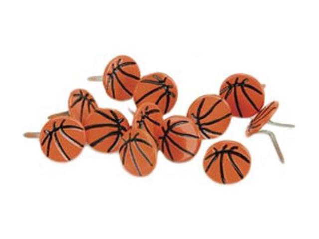Eyelet Outlet Brads-Basketball 12/Pkg