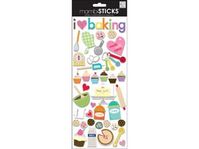 Self-Adhesive Designer Chipboard-I Love Baking