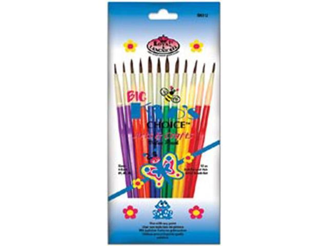 Big Kids Choice Arts & Crafts Brush Set-12/Pkg