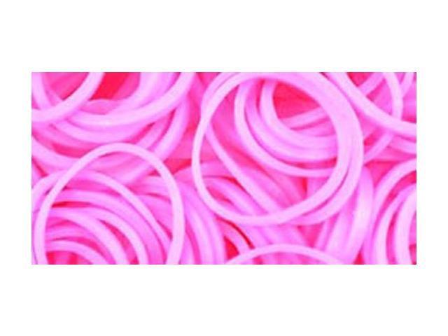 Loom Bands 500/Pkg W/25 Clasps-Light Pink