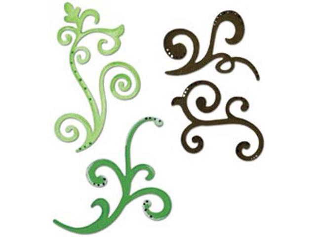 Sizzix Sizzlits Die Set 3/Pkg-Decorative Flourishes