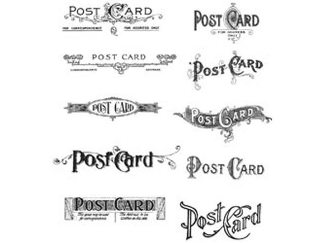 Tim Holtz Cling Rubber Stamp Set-Postcards