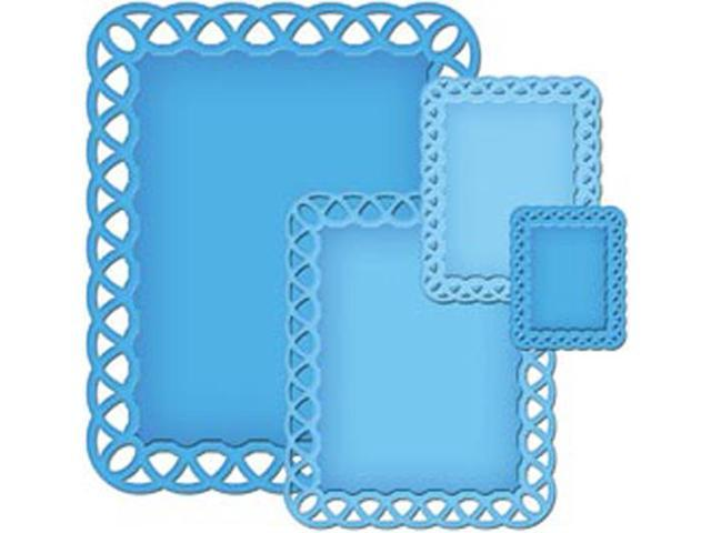 Spellbinders Nestabilities Decorative Elements Dies-Lattice Rectangles