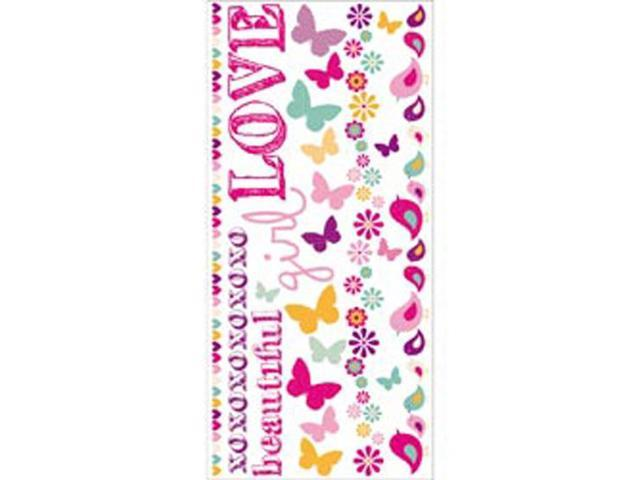Butterfly Kisses Rub-Ons 8.25