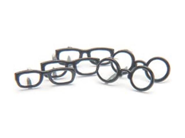 Eyelet Outlet Brads-Black Glasses 12/Pkg