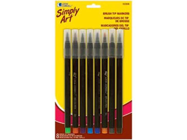 Simply Art Brush Tip Markers 8/Pkg-