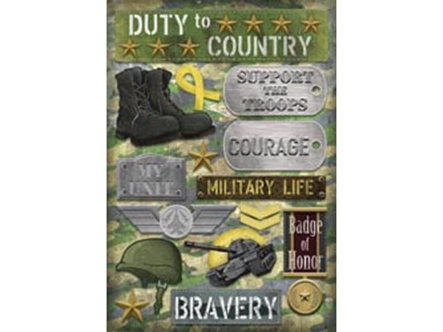 Military Cardstock Stickers 5.5