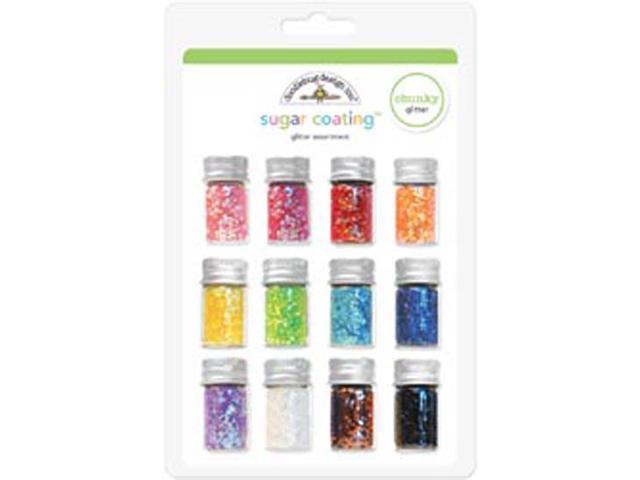 Sugar Coating Chunky Glitter Assortment 5 Gram Bottles 12/Pk-