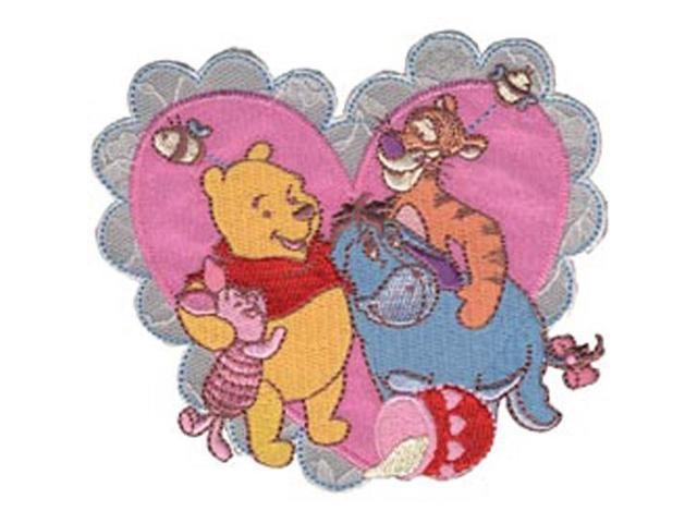 Disney Winnie The Pooh Pooh & Friends Heart Iron-On Applique-