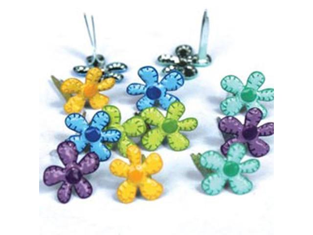 Eyelet Outlet Shape Brads-Mini Bright Flowers