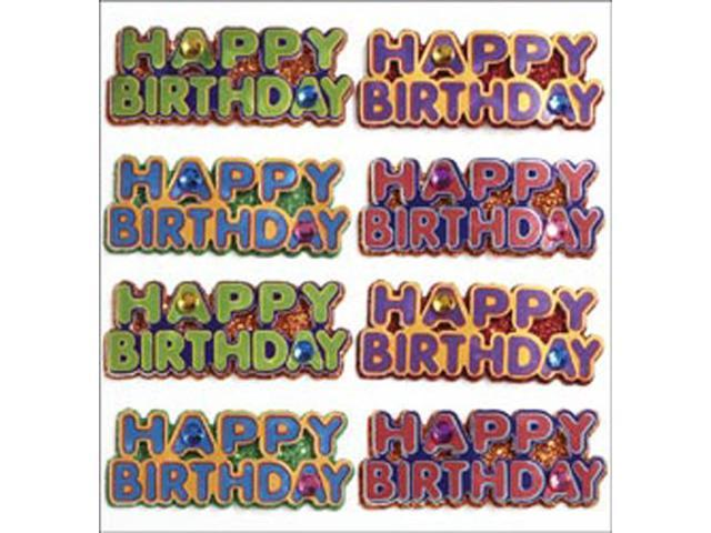 Jolee's Mini Repeats Stickers-Happy Birthday Words