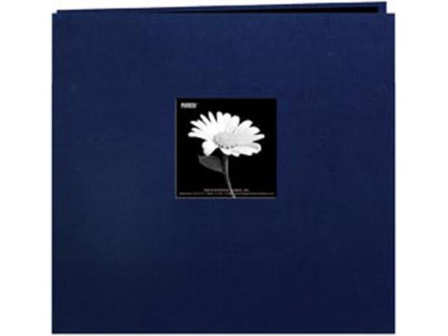 "Book Cloth Cover Postbound Album With Window 12""X12""-Regal Navy"