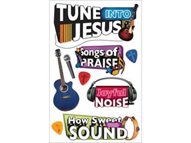 Paper House 3-D Sticker-Tune Into Jesus