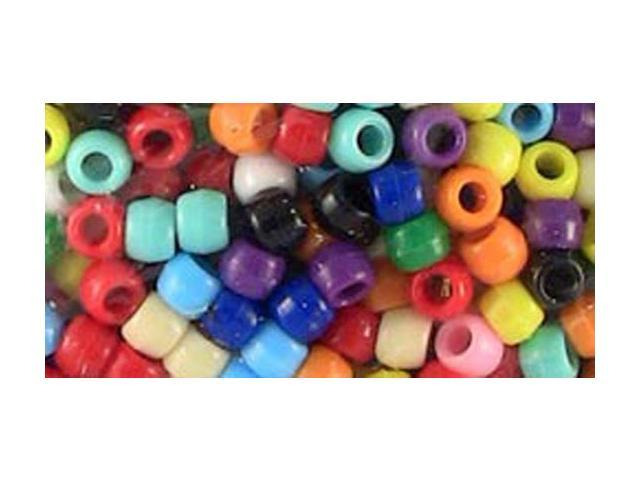 Pony Bead Big Value Pack 9mm 1000/Pkg-Opaque Multicolor