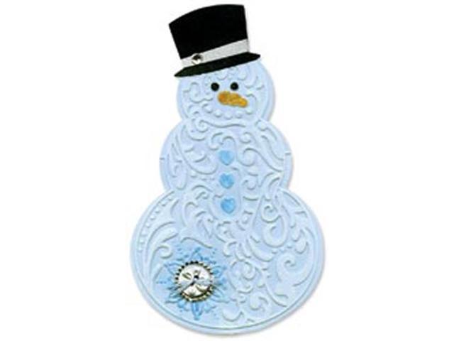 Sizzix Bigz BIGkick/Big Shot Die-Bonus Textured Impressions-Snowman & Hat