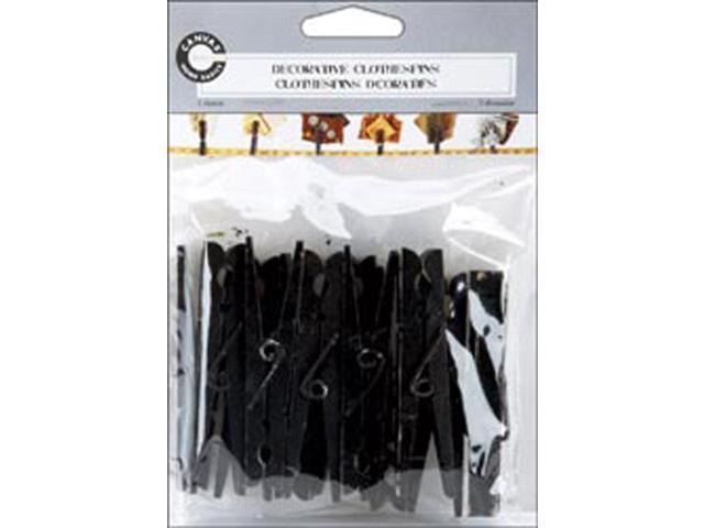Decorative Clothespins 12/Pkg-Distressed Black