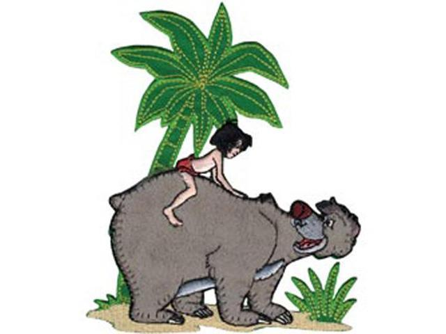 Disney Jungle Book Mowgli With Baloo Iron-On Applique-