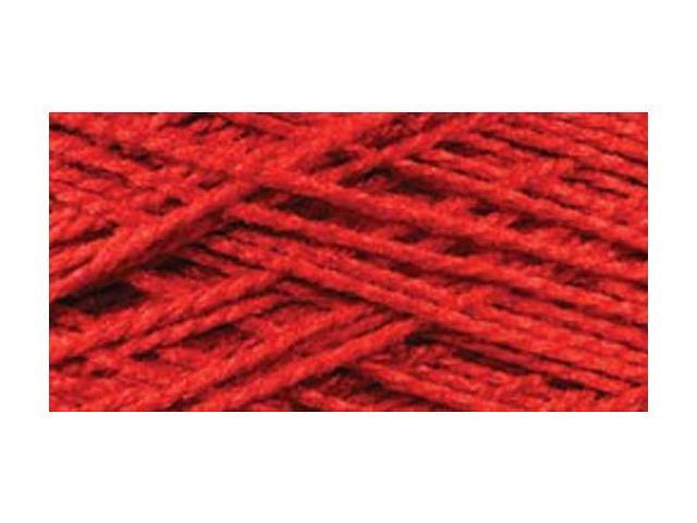 Needloft Craft Yarn 20 Yard Card-Red