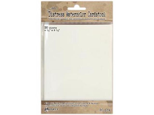 Ranger Distress Watercolor Cardstock (20 Pack) 4.25