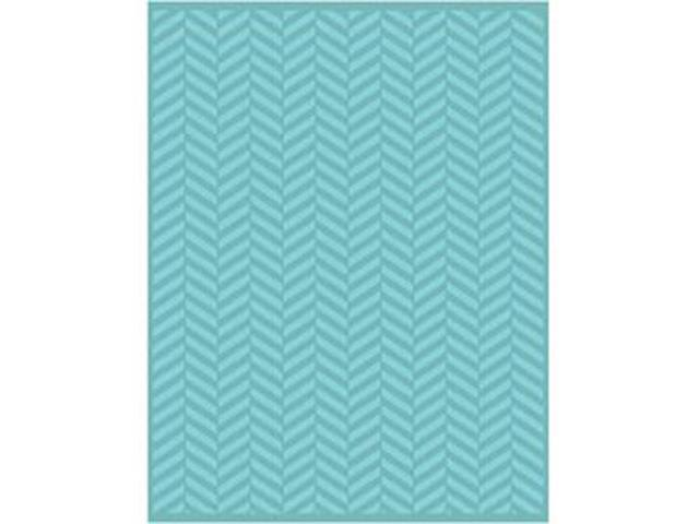 Embossing Folder Universal Size By Teresa Collins-Twill Herrringbone
