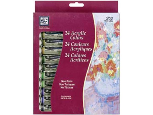 Acrylic Paints 12ml 24/Pkg-Assorted Colors