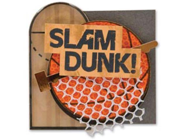 Basketball Lil' Stack 3-D Sticker-Slam Dunk
