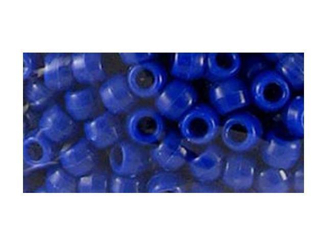 Pony Bead Big Value Pack 9mm 1000/Pkg-Opaque Blue