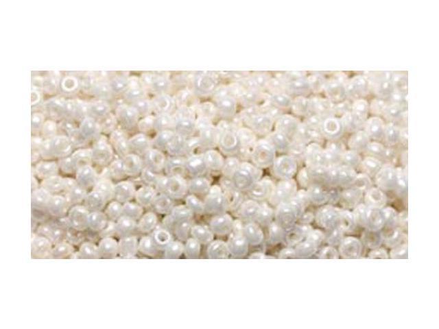 Jewelry Basics Glass Seed Beads 1.1oz-11/0 Pearl White Seed Beads