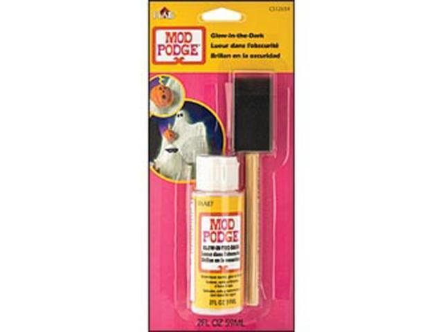 Mod Podge Glow-In-The-Dark W/Foam Brush 4 Ounces Carded-
